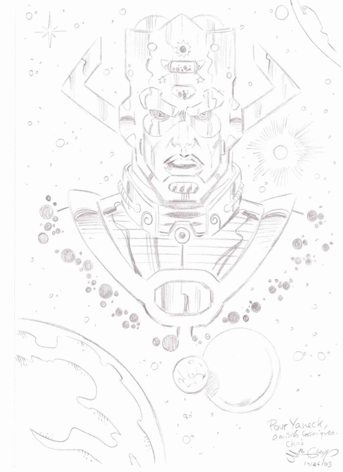 Dédicace Chris Malgrain- Galactus