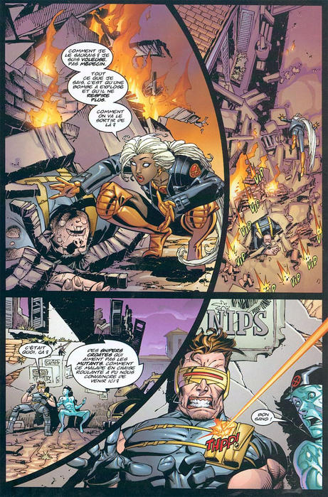 Marvel Deluxe Ultimate X-Men tome 1_planche