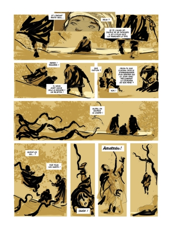 Story-board Excalibur chronique tome 3 page 4