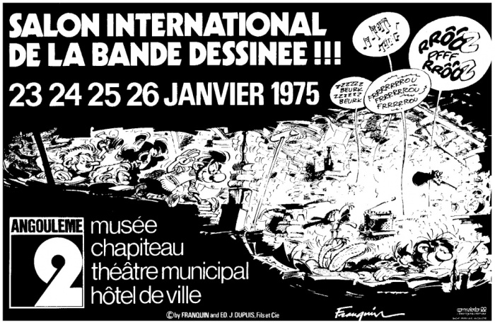 Affiche Angoulême 1975 Franquin