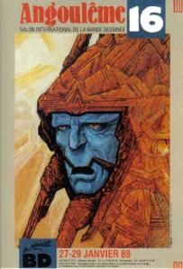 Affiche Angoulême 1989 Druillet