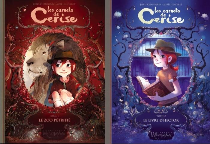 Les carnets de Cerise couvertures tome 1 et 2