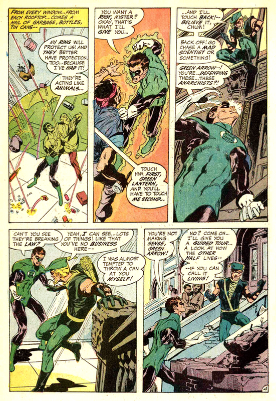 Green Lantern- Green Arrow- planche