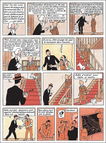 Tintin--Le-sceptre-d-Ottokar_-planche