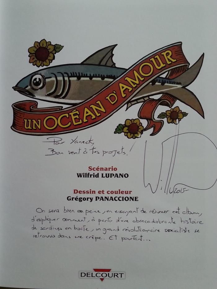 Dédicace Wilfrid Lupano Rennes Mars 2015 Un océan d'amour