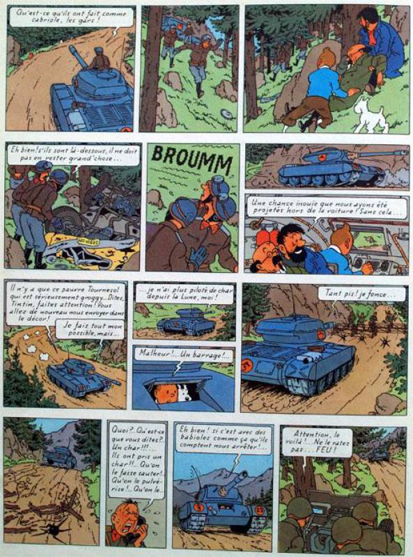 Tintin tome 18_ planche