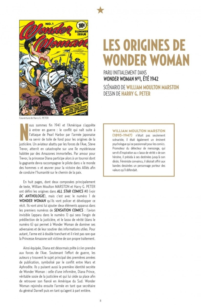 Wonder Woman Anthologie_ rédactionnel